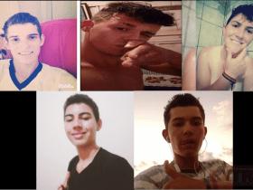 Fotos mostram local onde 5 jovens foram mortos a tiros durante festa em RO