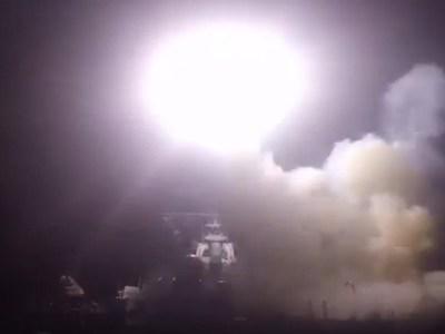 Veja as primeiras imagens divulgadas do bombardeio americano à Síria