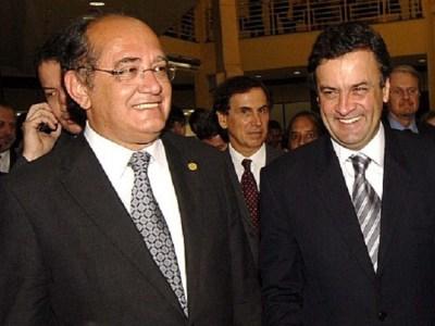 Gilmar Mendes acata pedido da defesa e suspende depoimento de Aécio