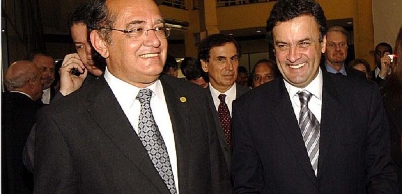 Gilmar Mendes será relator de um dos inquéritos de Aécio Neves
