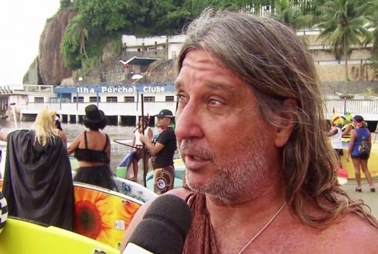 Surfista foi morto após agredir a esposa em São Vicente, SP (Foto: Reprodução/TV Tribuna)