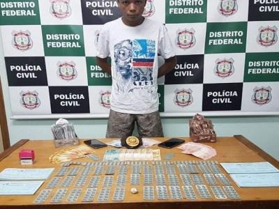 Traficante é preso no DF com Rohypnol e folhas de receitas médicas