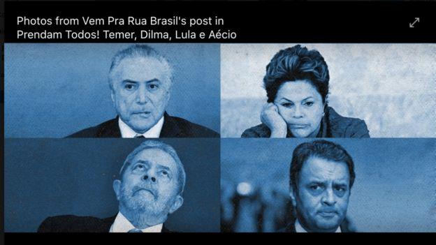 Vem Pra Rua pede prisão de políticos envolvidos em escândalos