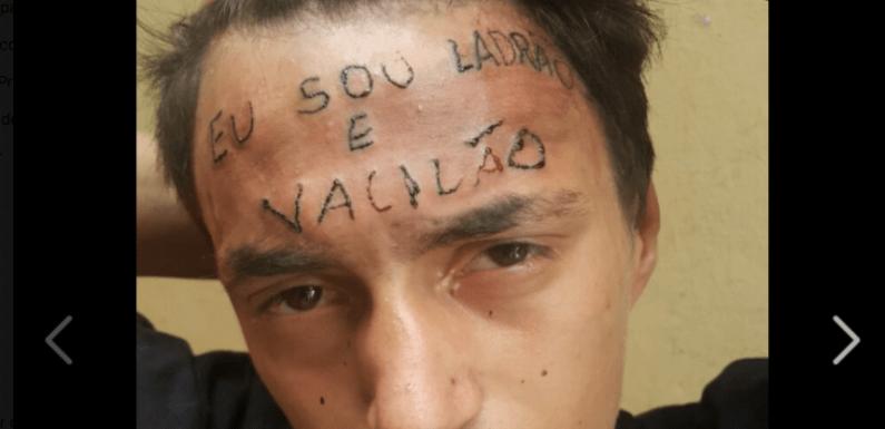 Jovem é tatuado na testa após ser acusado de roubo; imagens viralizam no Facebook