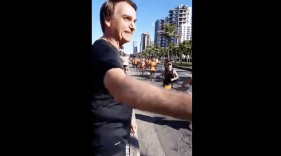 Deputado Jair Bolsonaro é xingado em maratona no Rio