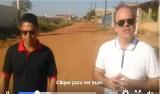 Alan Queiroz acompanha obras de asfaltamento no Tancredo Neves