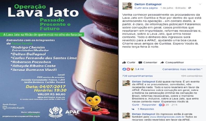 """Procuradores que trabalham na """"lava jato"""" fazem noite de autógrafos em Curitiba"""