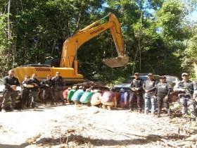 Garimpo ilegal é fechado e 21 pessoas são presas em município de MT