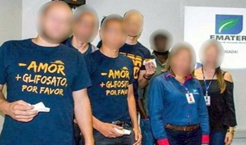 Foto de alunos da UFG com camiseta pedindo 'menos amor' e promovendo agrotóxico repercute na web