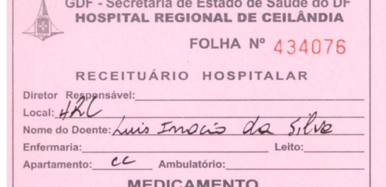 Hospital do DF emite receitas médicas fictícias para 'Lula' e 'Elisa Samúdio'