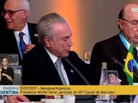 Meirelles cochila enquanto Temer discursa na Cúpula do Mercosul; veja vídeo