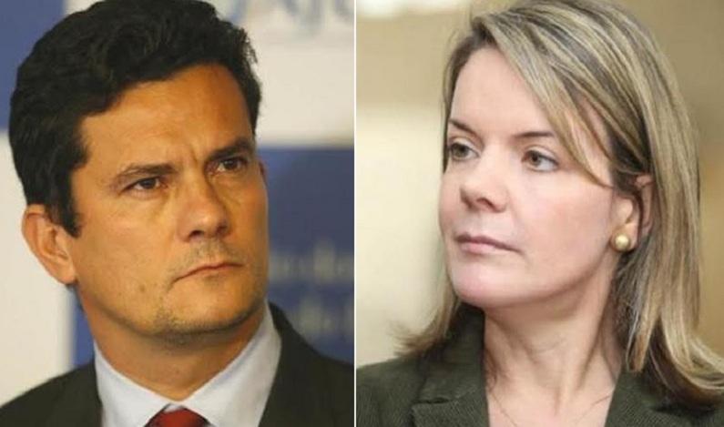 """""""Seu covarde, nós vamos ocupar esse Brasil"""", diz Gleisi Hoffmann em ataque a Moro; vídeo"""