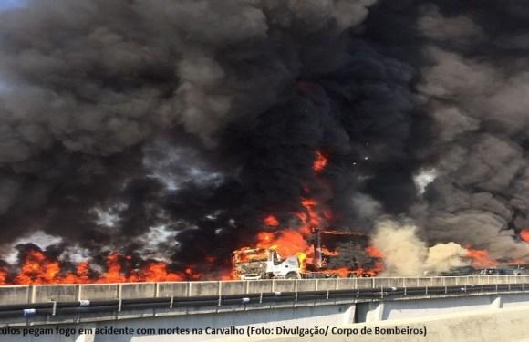 Grave acidente em São Paulo teria sido causado por fumaça na rodovia