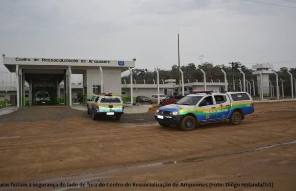 Presos iniciam motim e reforço policial é chamado no Centro de Ressocialização de Ariquemes, RO