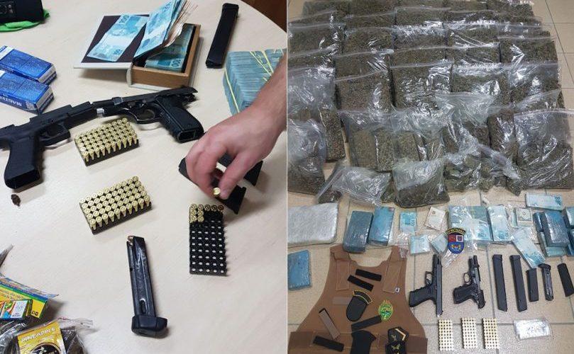 Ex-policial de 28 anos é preso com 58 quilos de maconha, além de R$ 150 mil em notas
