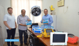 Luiz Claudio visita hospital municipal de Rolim de Moura