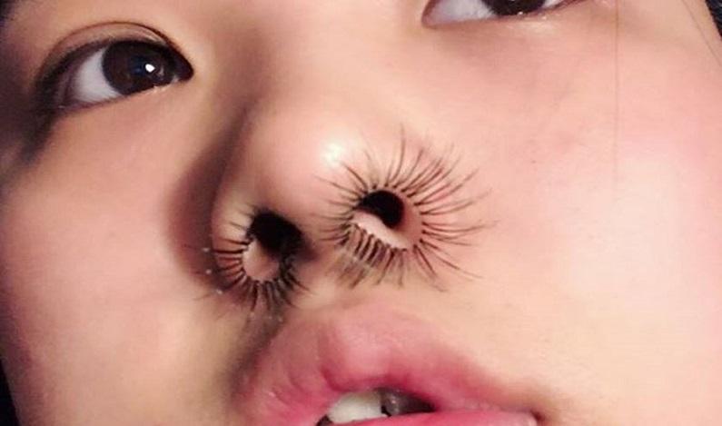 Cílios para o nariz é a mais nova moda bizarra de beleza