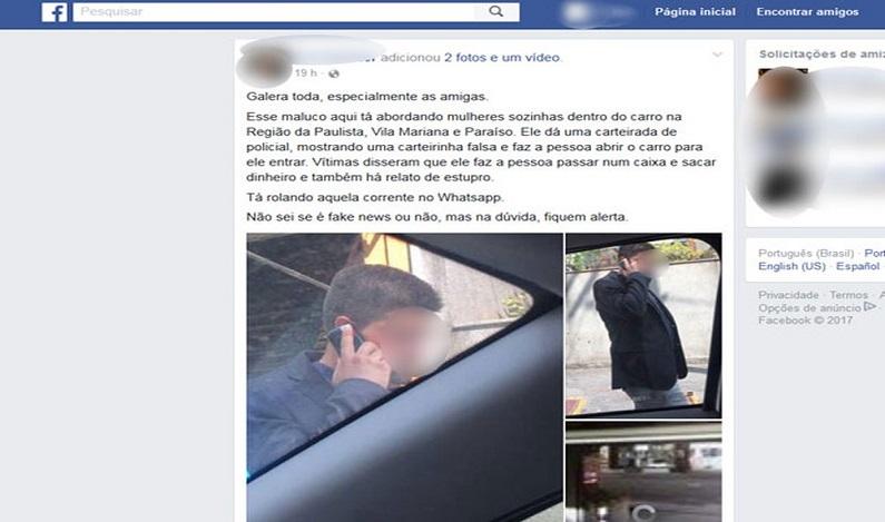 Polícia prende suspeito de roubar e estuprar mulher em área nobre de SP