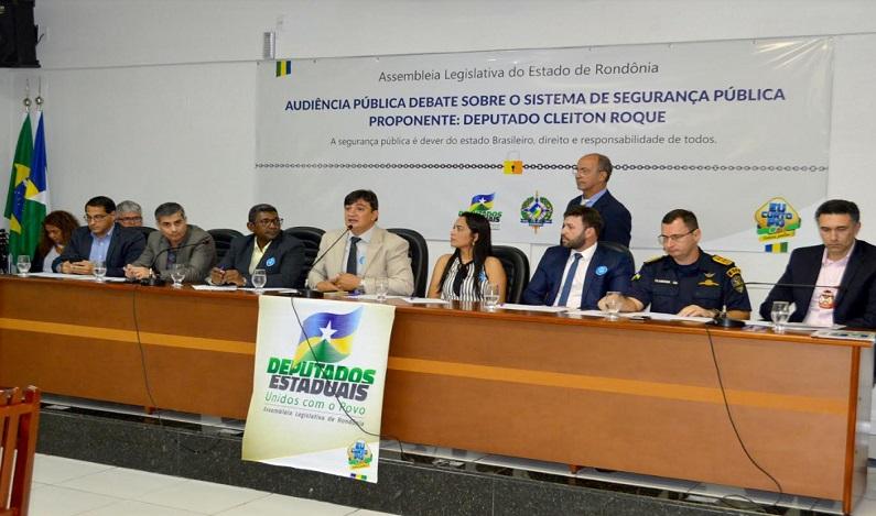 Audiência pública proposta pelo deputado Cleiton Roque debateu segurança pública em Pimenta Bueno