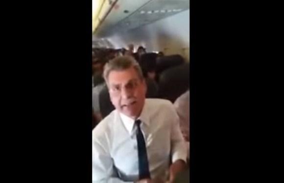 Jucá vai processar a mulher que o hostilizou em avião