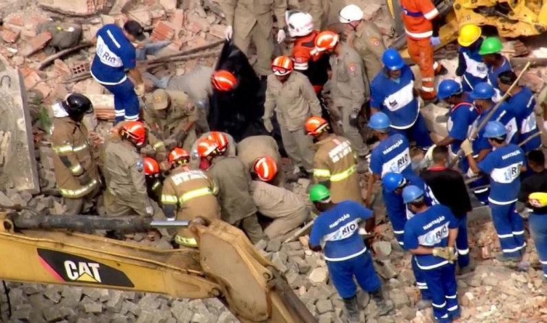 Queda de muro em Benfica, no RJ, deixa um morto e feridos