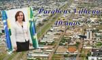 Rosangela Donadon parabeniza Vilhena pelos 40 anos de emancipação