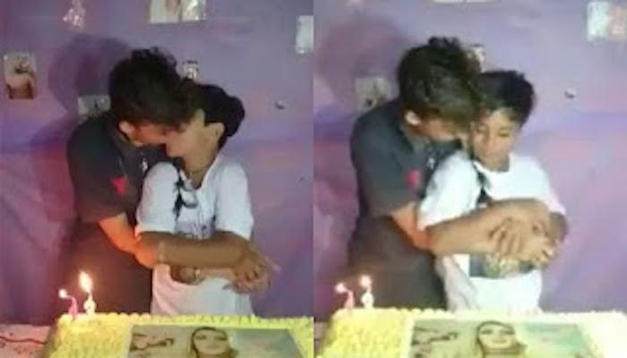 Video mostra menino de 12 anos beijando suposto namorado em festa de aniversário