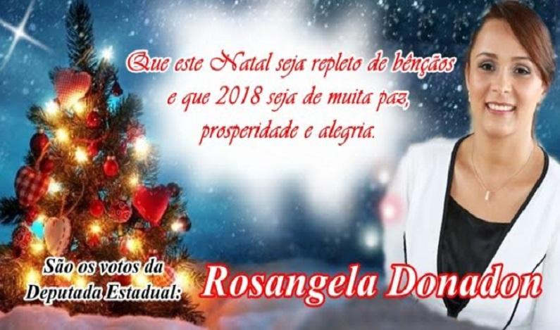 Rosangela Donadon deseja um Feliz Natal e Ano Novo a todos os Rondonieses