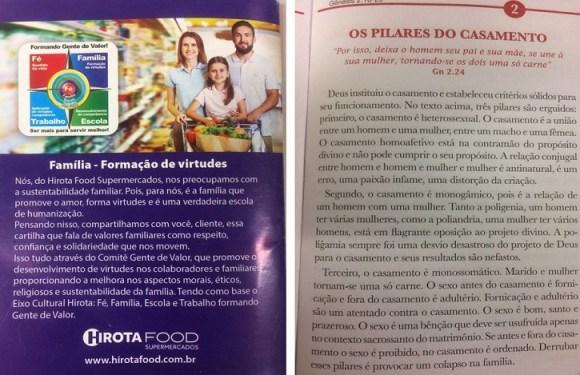 Supermercado de SP distribui 'cartilha da família' que diz que gays são 'erro' e 'distorção da criação'