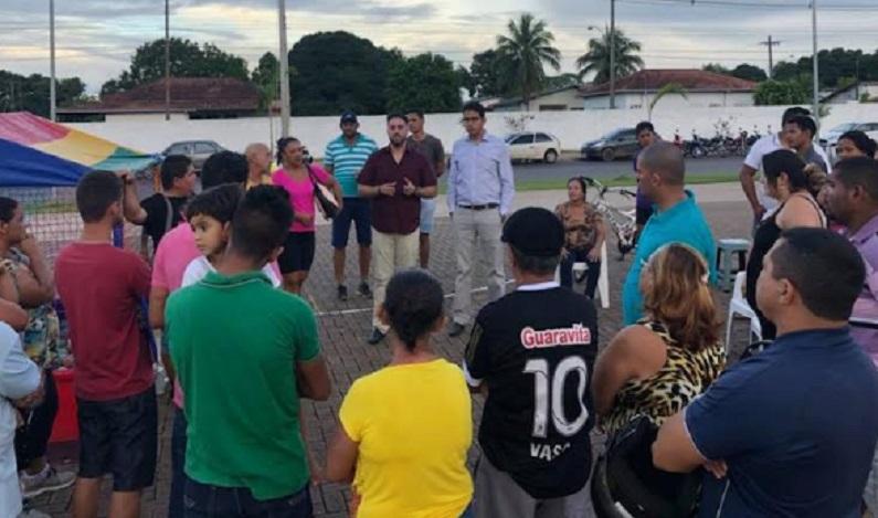 Deputado Léo Moraes se reúne com ambulantes do Espaço Alternativo que buscam regulamentação
