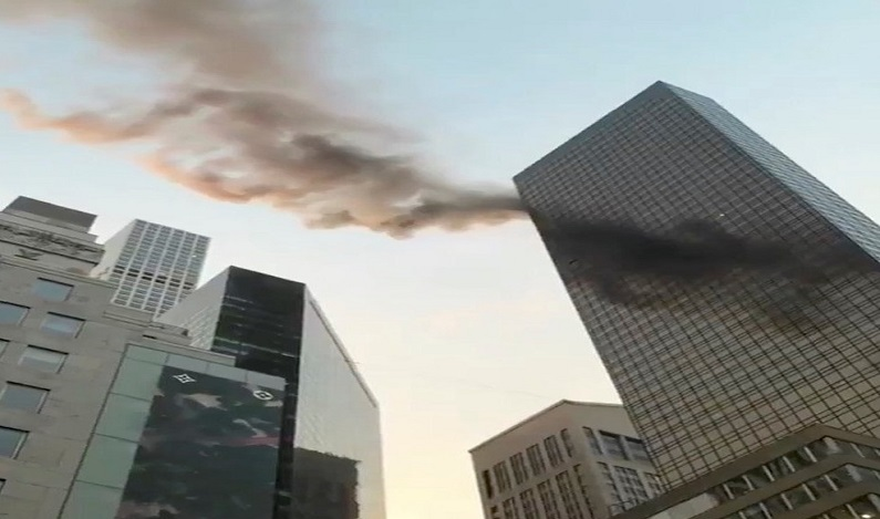 Incêndio atinge topo da Trump Tower em Nova York