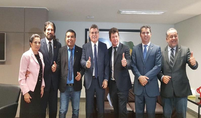 TRANSPOSIÇÃO: Relator da MP 817, Romero Jucá se reuni com Bancada de Rondônia e define estratégias para aprovação de emendas