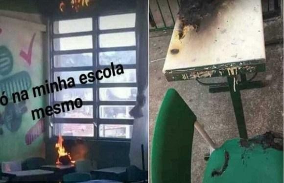 Aluno ateia fogo em mesa de sala de aula de escola estadual em SP