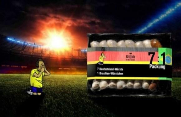Empresa alemã lança pacote de salsichas em homenagem ao 7 a 1 sobre o Brasil