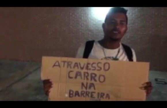 Homem cobra R$ 80 para dirigir para motoristas alcoolizados e atravessar blitz em balneário do PA; veja vídeo