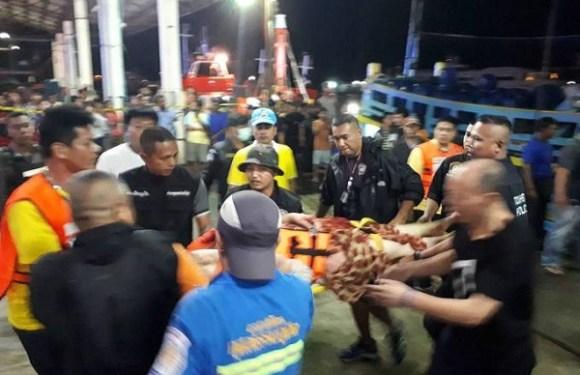 Naufrágio deixa 21 mortos e quase 50 desaparecidos na Tailândia