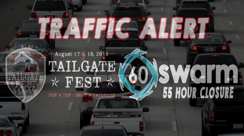 Important Traffic Alert for a 2 day Country Music Festival