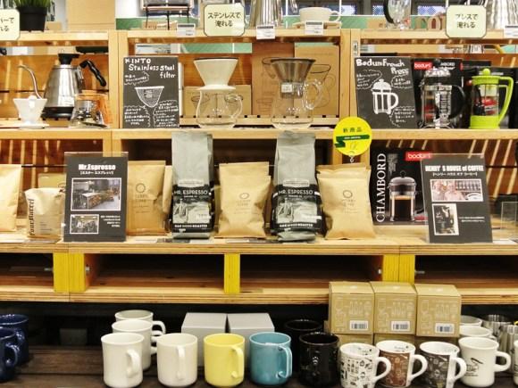 東急ハンズ京都店3階「サードウェーブコーヒーを気軽に家で楽しむ」特設コーナー