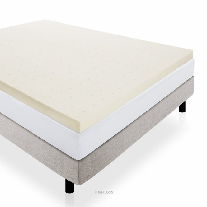 Best Mattress Toppers For Back Pain Lucid 3 Inch Ventilated Memory Foam