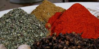 spices piles
