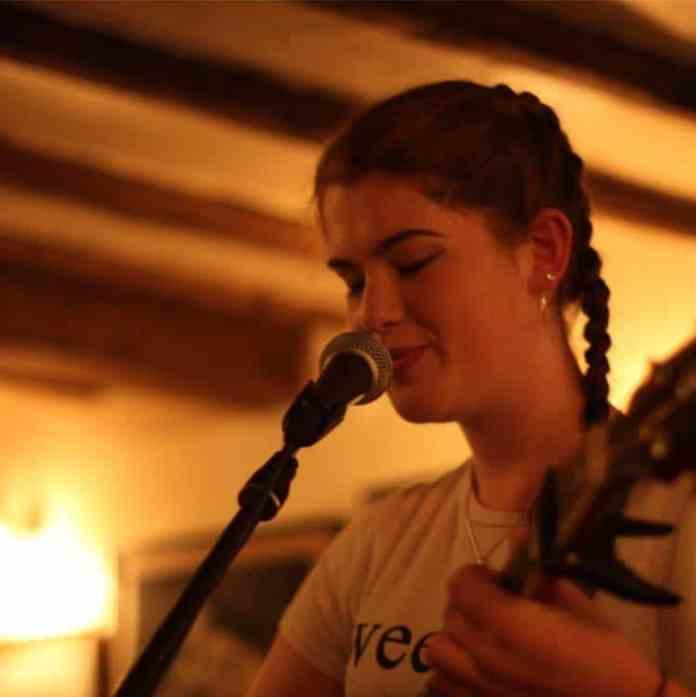 Georgina performing at open mic night
