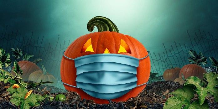 corona mask halloween