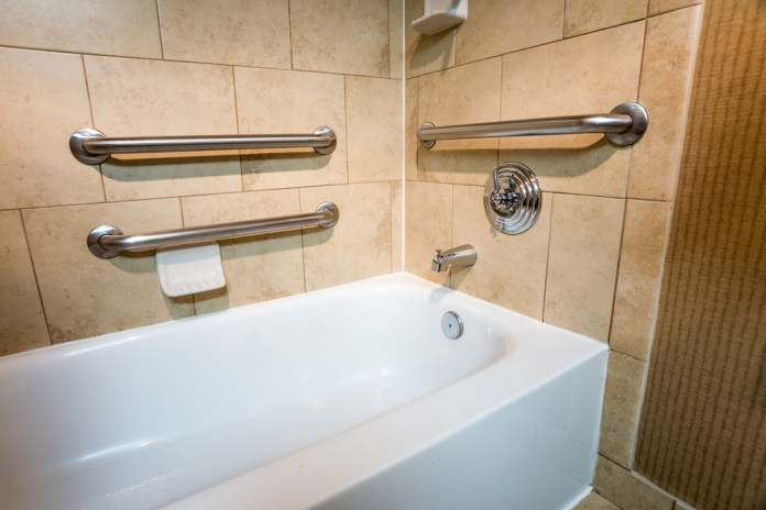 install grab bars into home
