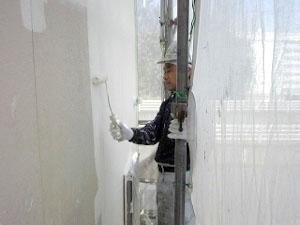 外壁サイディング中塗り2