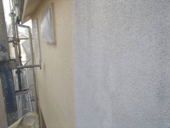 リシン壁ガイナ塗装 (3)