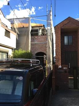 コロニアル屋根 ガイナ塗装 (6)