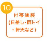10エアコンカバー復旧付帯塗装(日差し・雨トイ・軒天など)