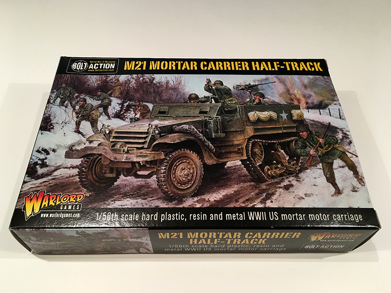 Bolt Action M21 Mortar Half Track - Front of Box