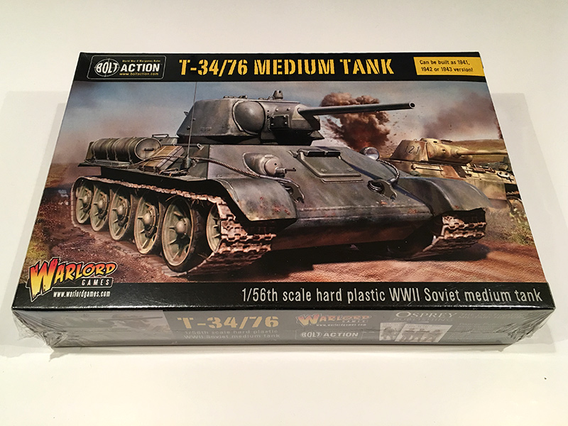 Bolt Action T-34/76 Box Front