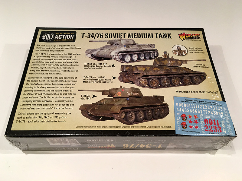 Bolt Action T34/76 - Rear of Box